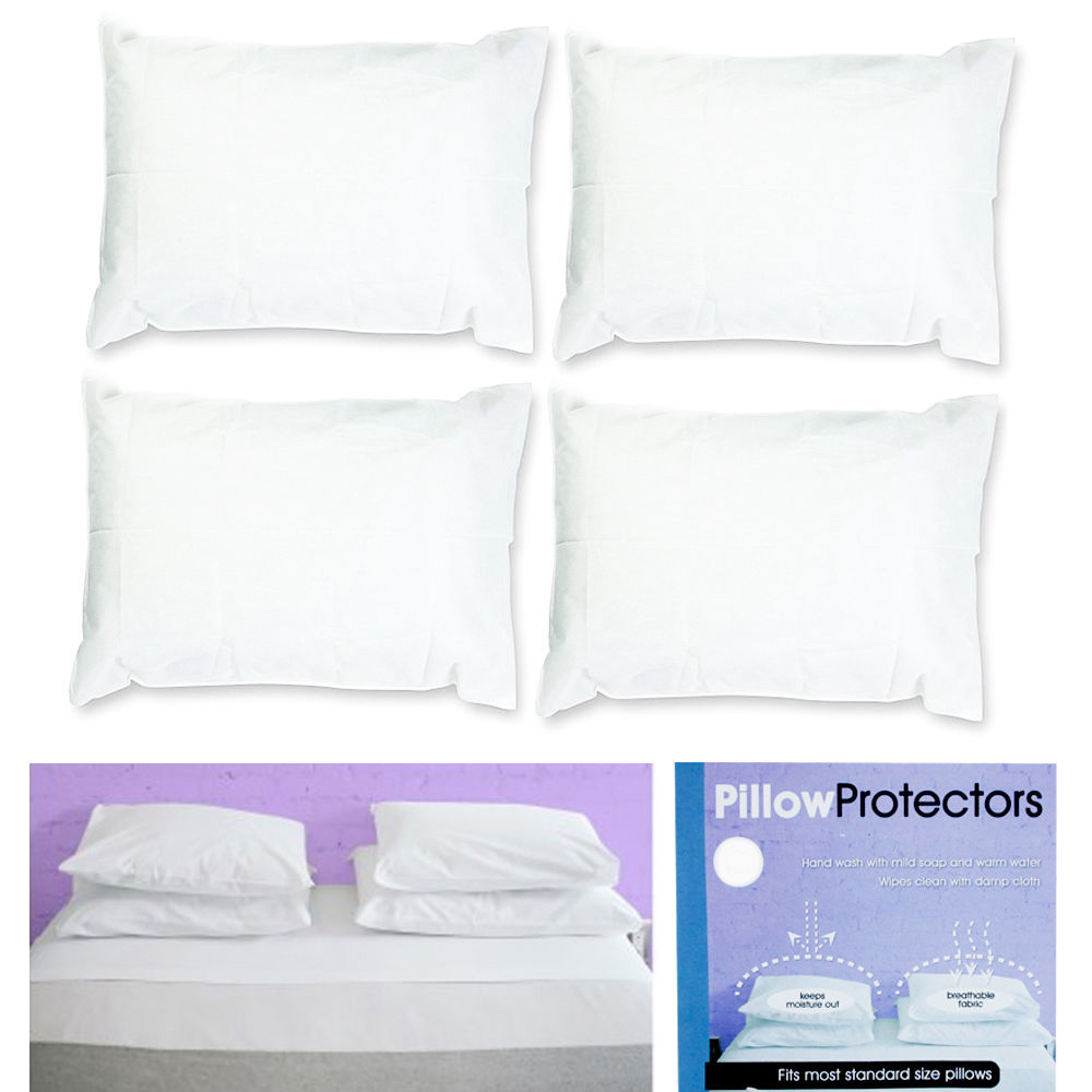 Standard Throw Pillow Cover Sizes : Set Of 4 Pillow Protector Cover Standard Size Pillowcase Soft Fabric Bedding New