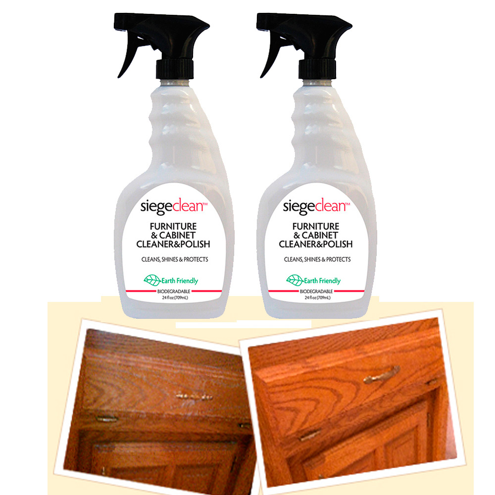 2 Pc Furniture Cabinet Wood Cleaner Surface Polish 24 Oz