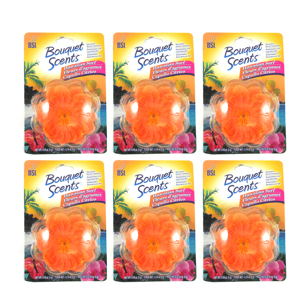 6 scented flower gel air freshener deoderizer odor - Best smelling air freshener ...