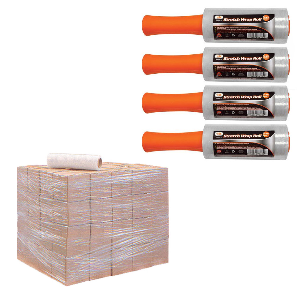 4 Rolls Stretch Plastic Wrap Shrink Film Banding Packing Dispenser 5 5 X 250 39 Ebay