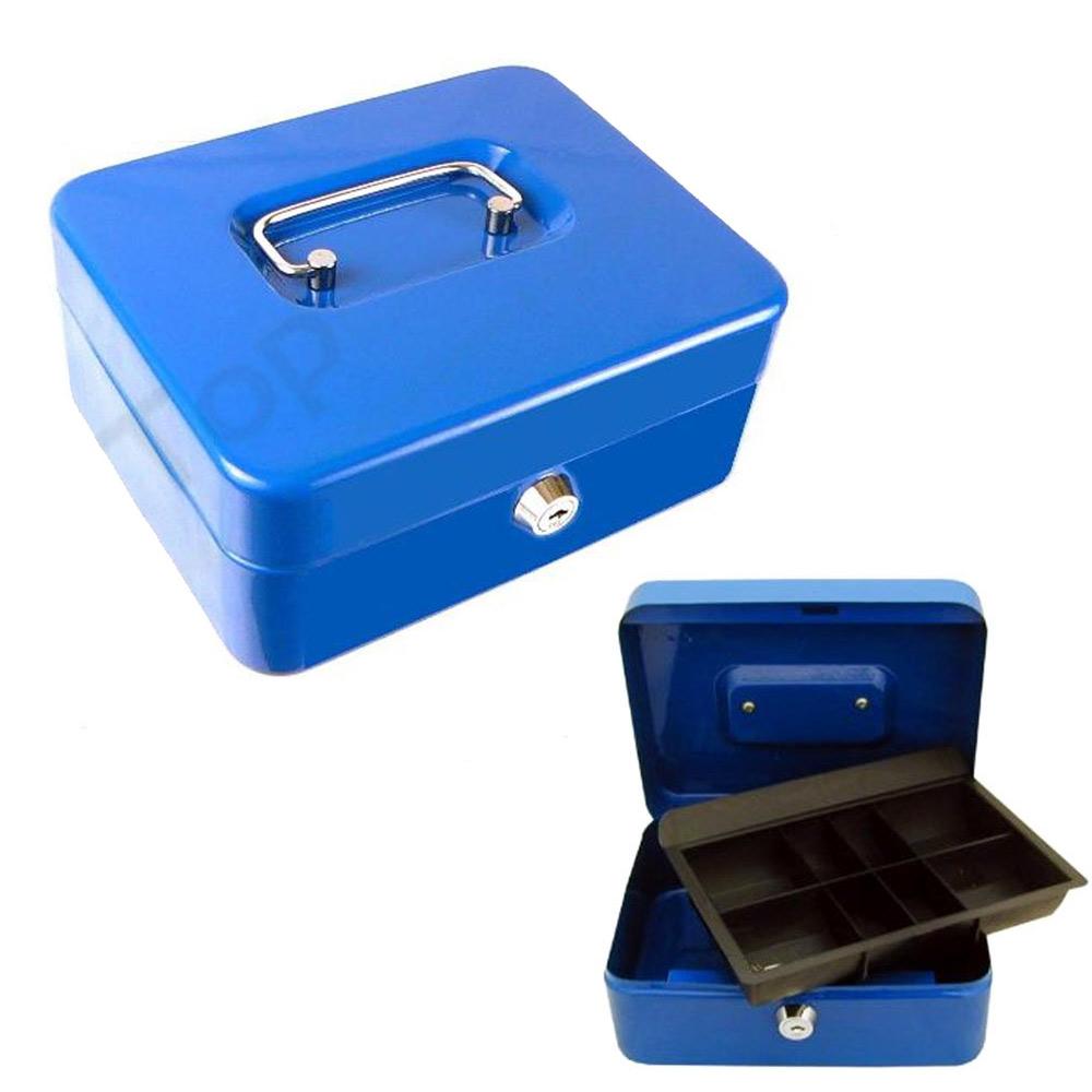 Money Security Box Fire Proof Safe Lock Cash Gun Jewelry