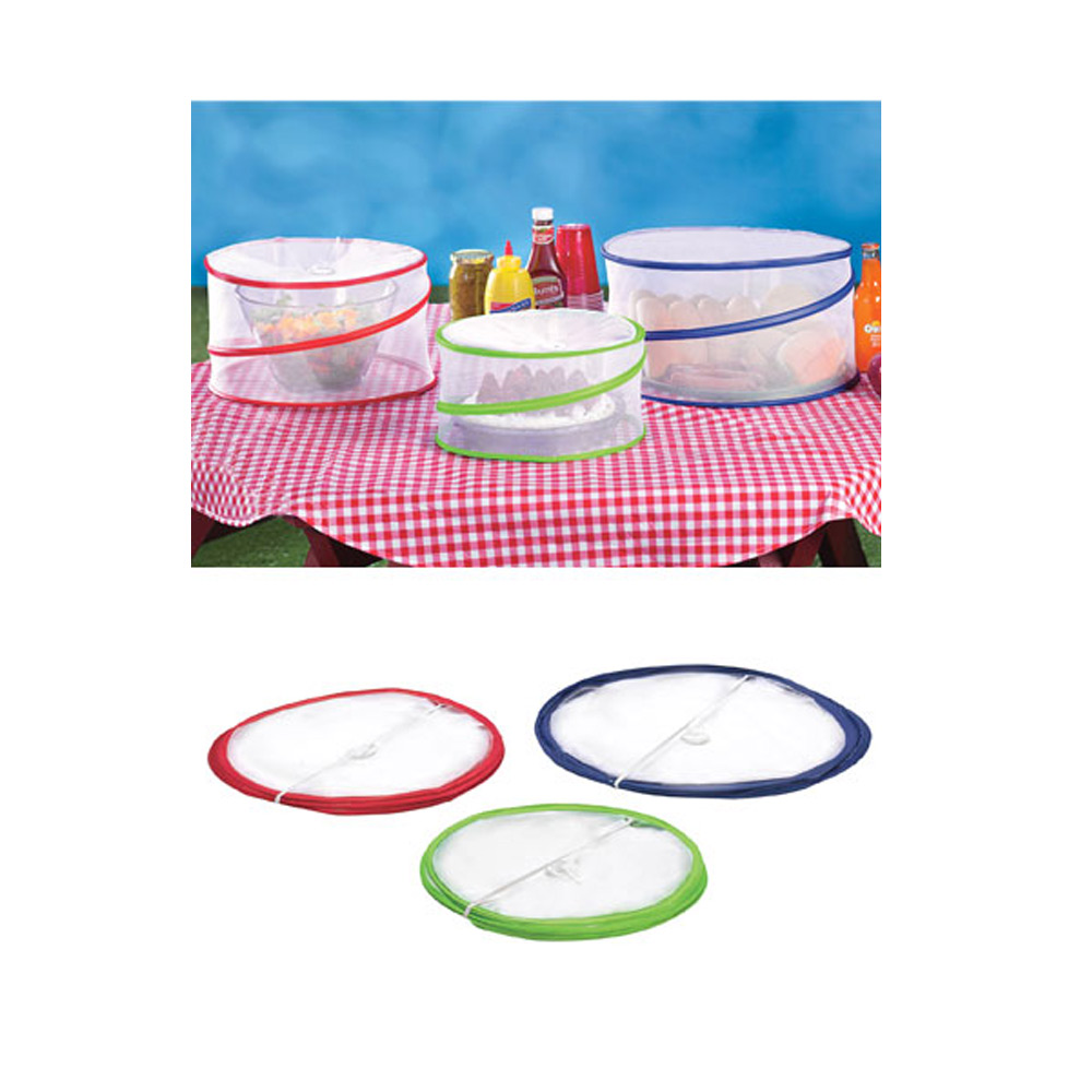 Set Of 3 Pop Up Food Covers Mesh Screen Outdoor Picnic Bbq Tent Bug Protector 7795735133798 Ebay