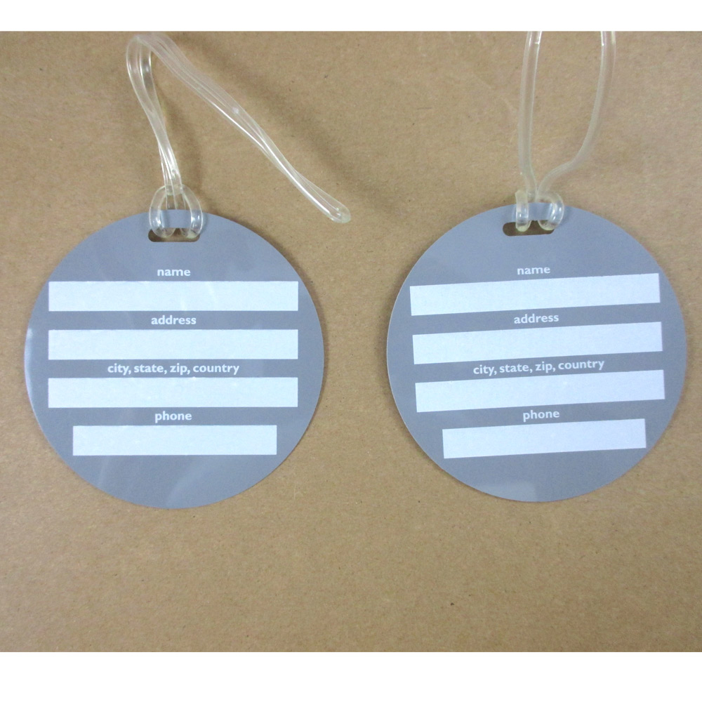 4x Luggage Tags Bag Label Name Address Id Suitcase