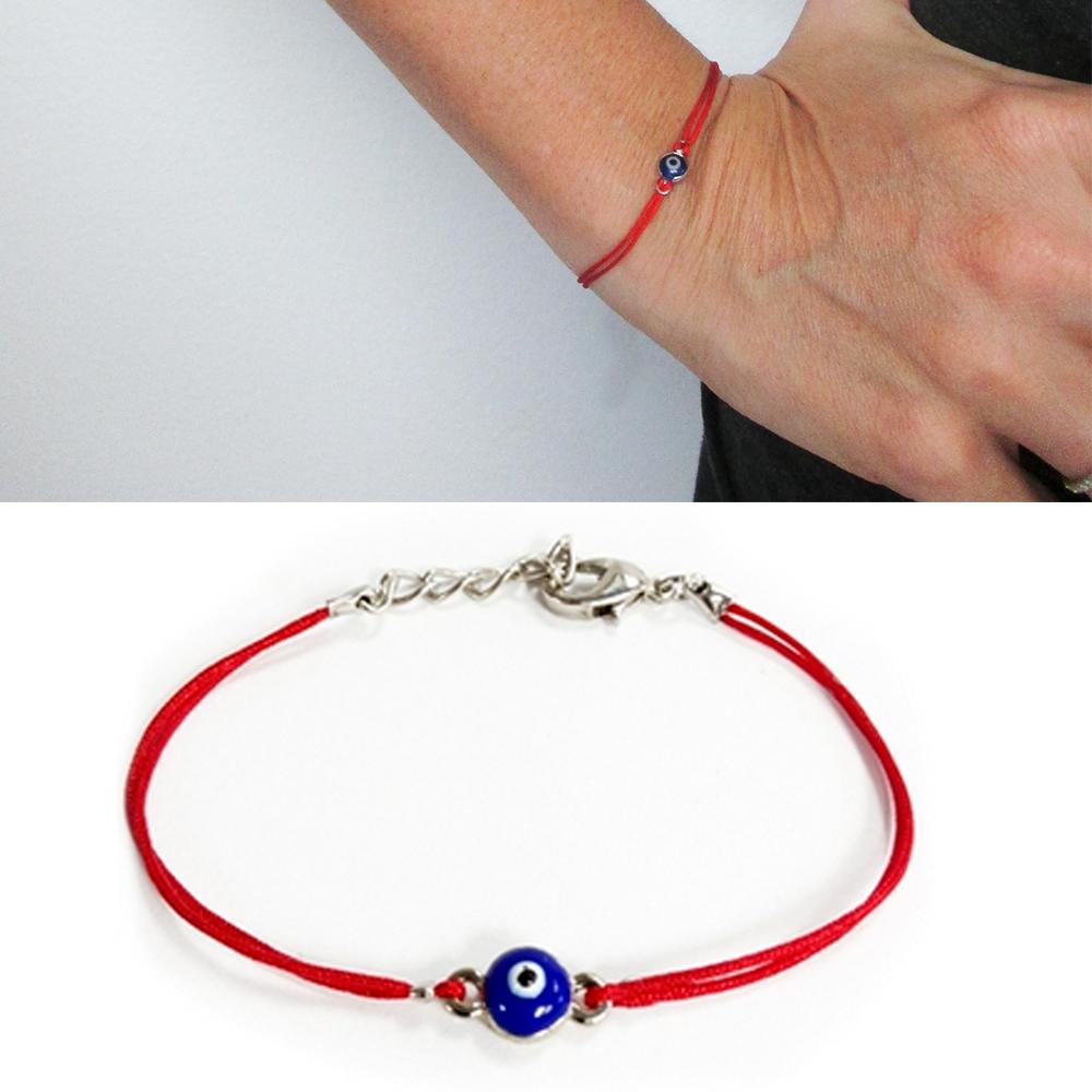 Turkish Eye Nazar Lucky Bracelet String Bracelet with Evil Eye Macrame Evil Eye Bracelet