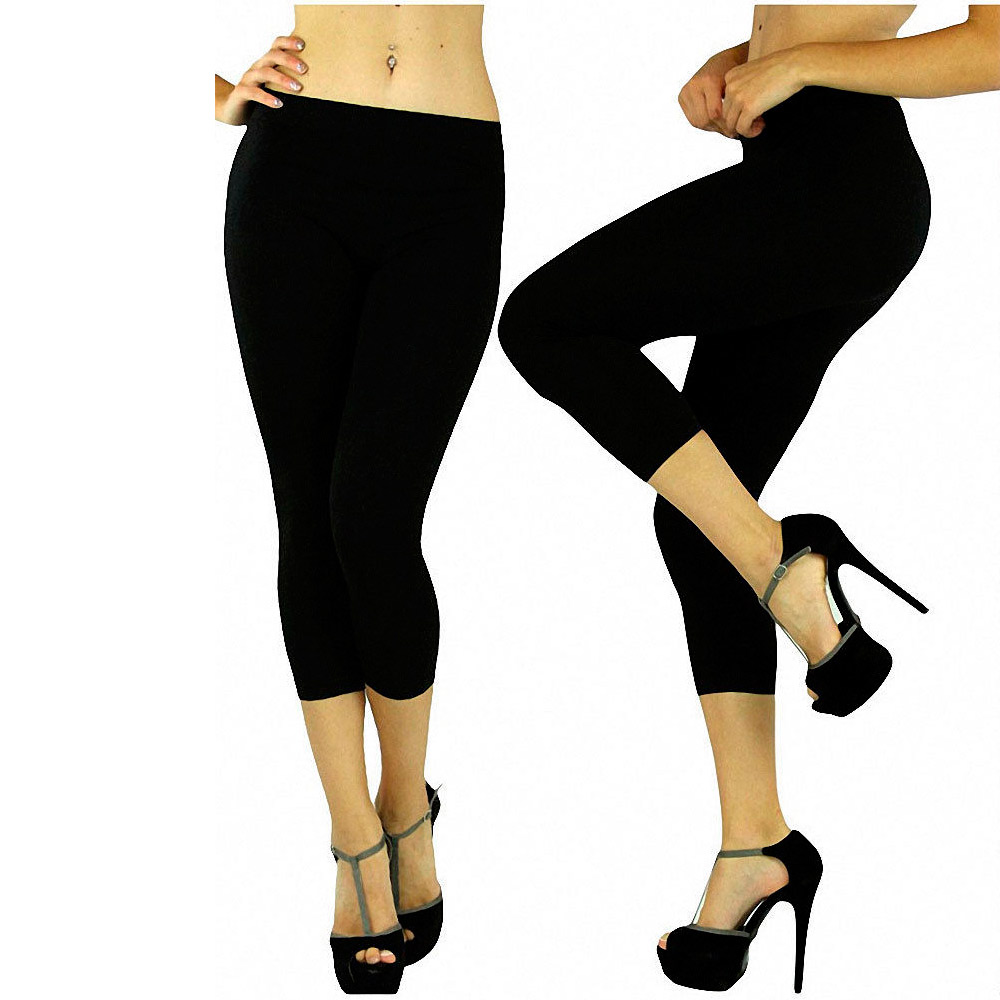 Women Seamless One Size Stretch Spandex Yoga Pants Opaque