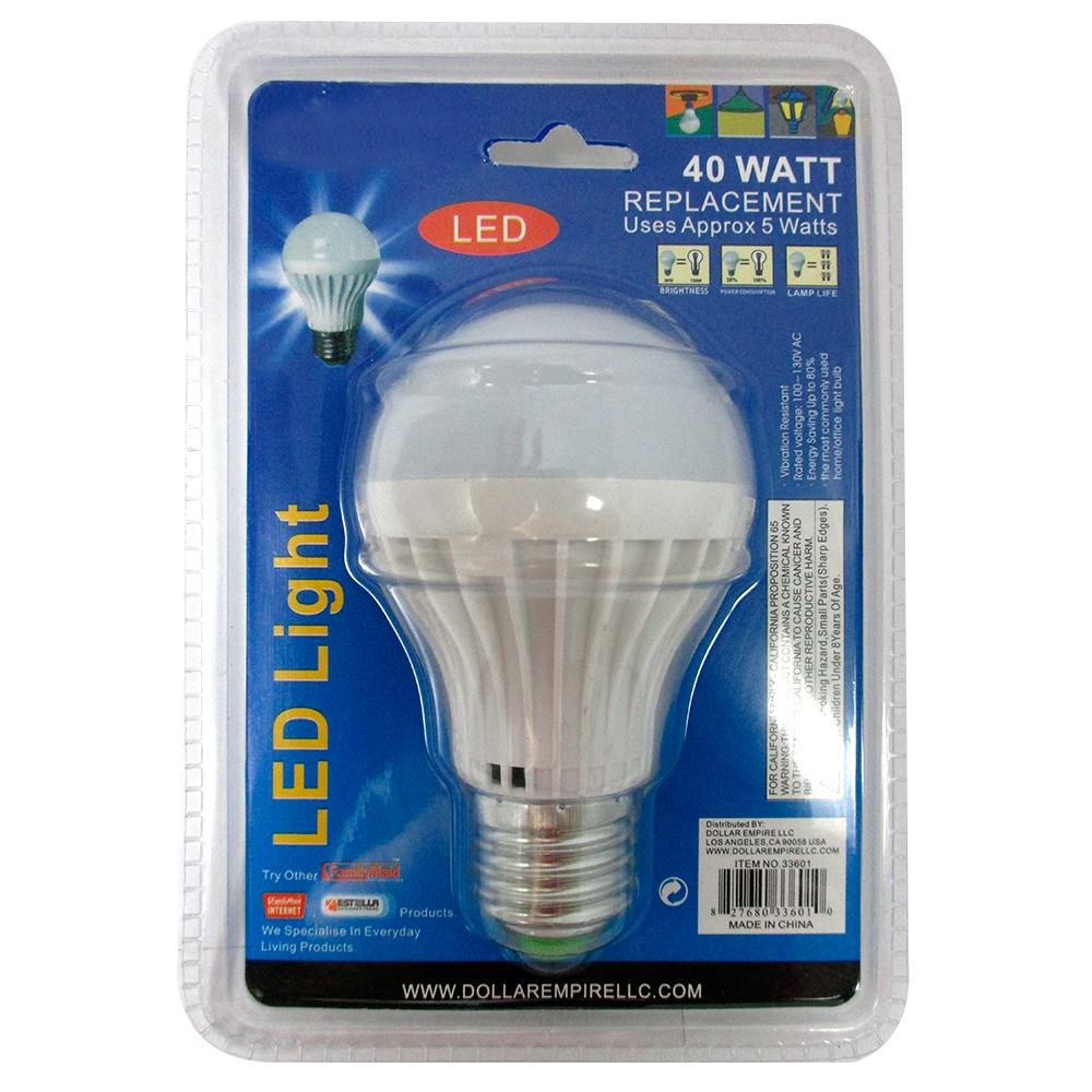 2 40 watt energy saving bright white light led bulb lamp home office lighting ebay. Black Bedroom Furniture Sets. Home Design Ideas