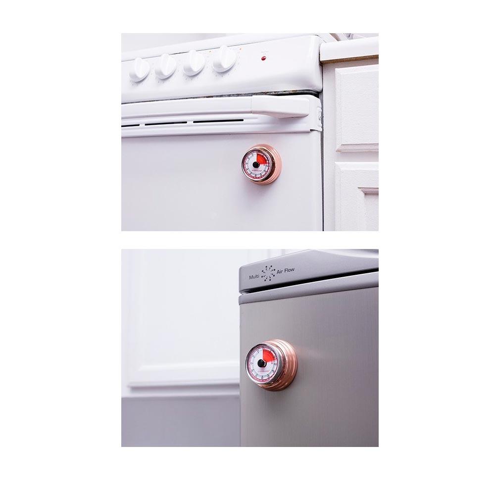 1 Kikkerland Magnetic Kitchen Timer Rotary Cook 55 Min