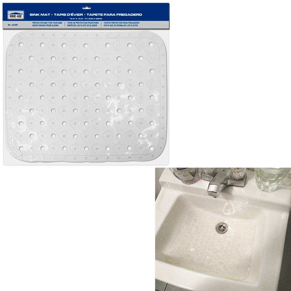 large kitchen sink protector mat clear vinyl gadget tools drain dish 2 4 x10 2 ebay. Black Bedroom Furniture Sets. Home Design Ideas