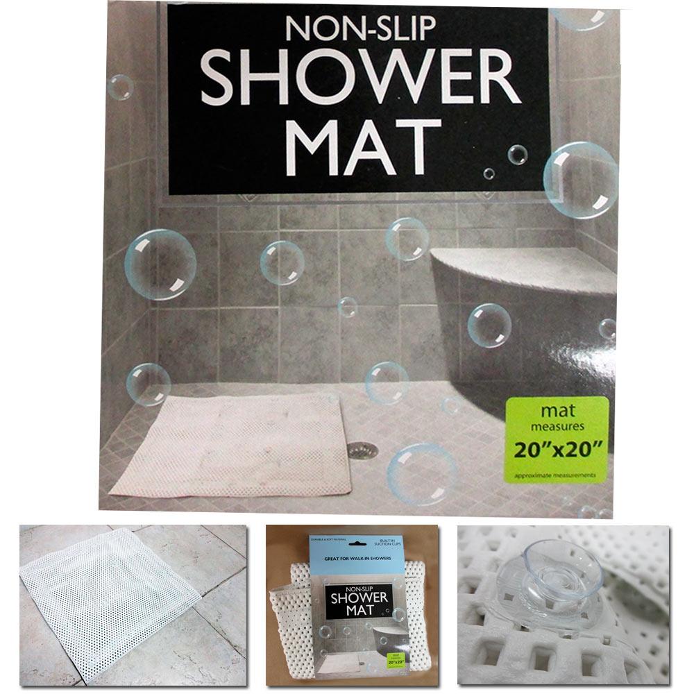 Anti Slip Showers : Non slip rug aqua carpet mat shower bath water area