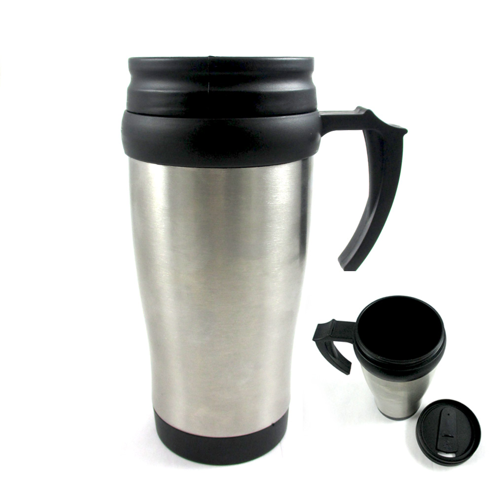 stainless steel insulated double wall travel coffee mug. Black Bedroom Furniture Sets. Home Design Ideas