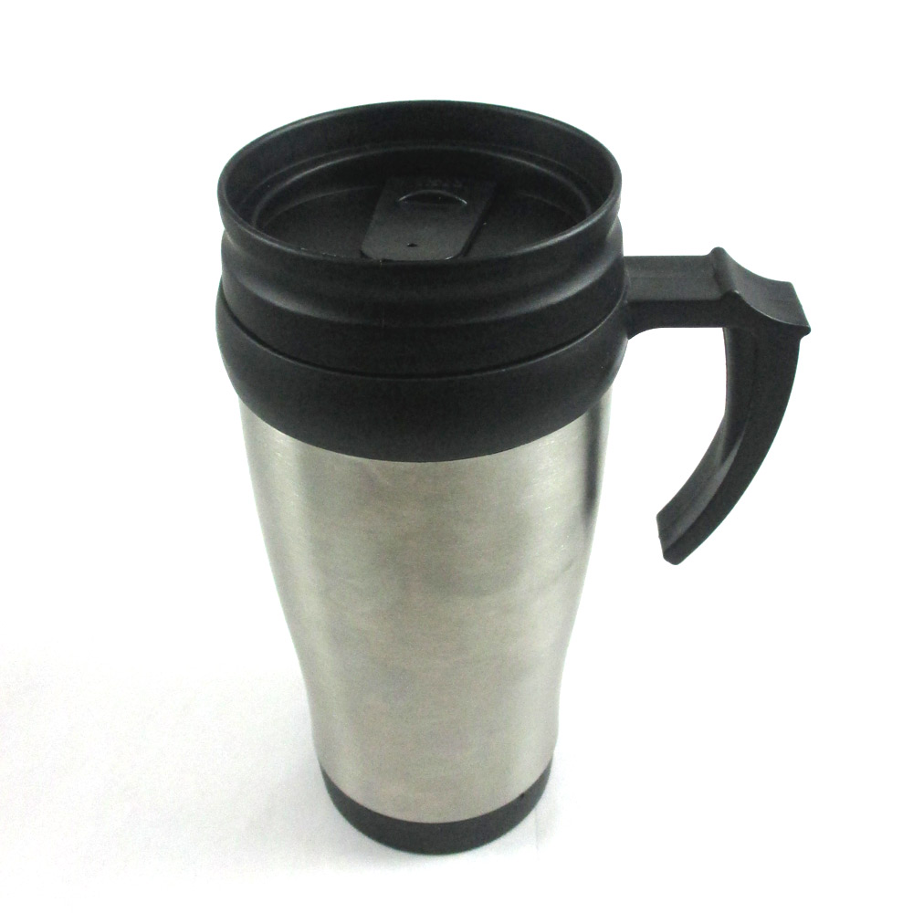 stainless steel insulated double wall travel coffee mug cup 14 oz thermos tea. Black Bedroom Furniture Sets. Home Design Ideas