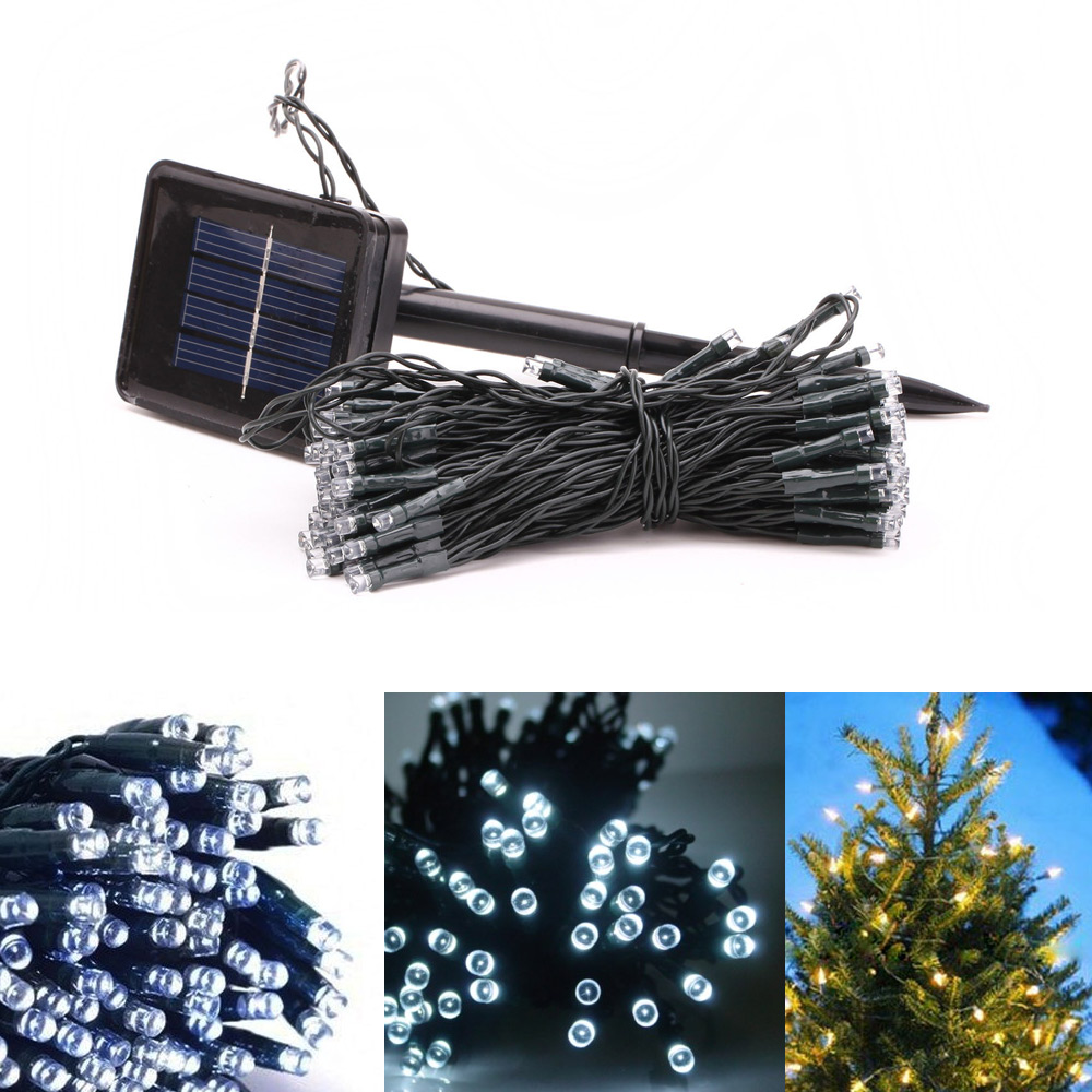 50 Solar Powered LED String Fairy Lights Party Xmas Outdoor Garden Tree Decor