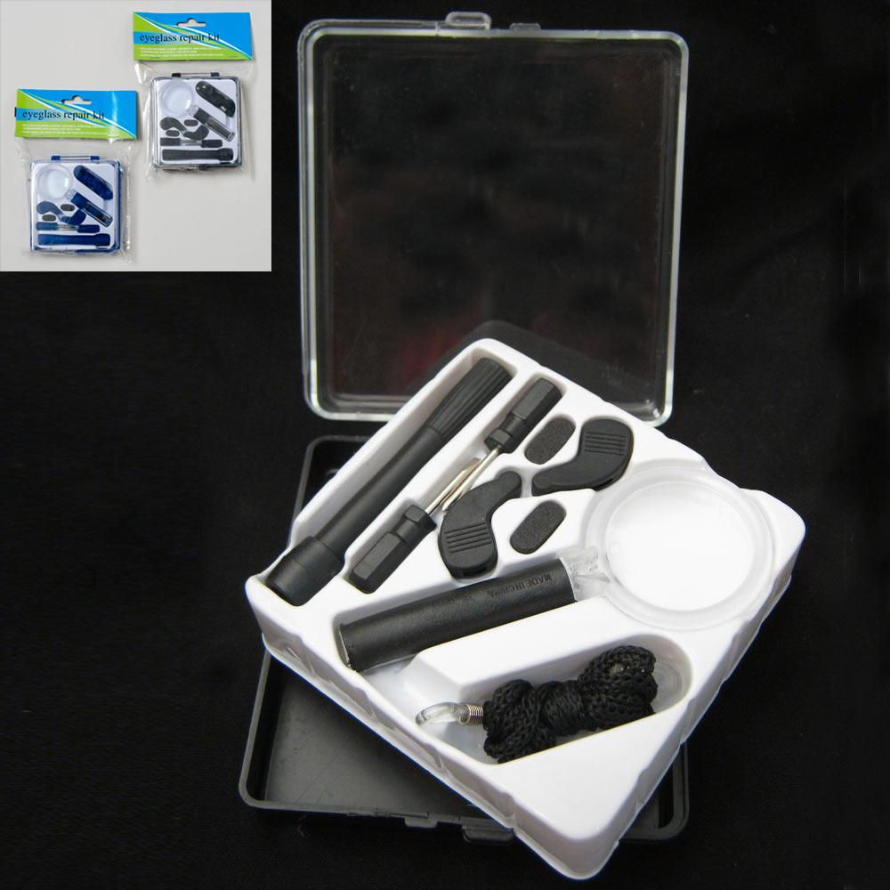 15 pc eyeglasses repair tool kit optical tool set glasses screws screwdriver nut ebay. Black Bedroom Furniture Sets. Home Design Ideas