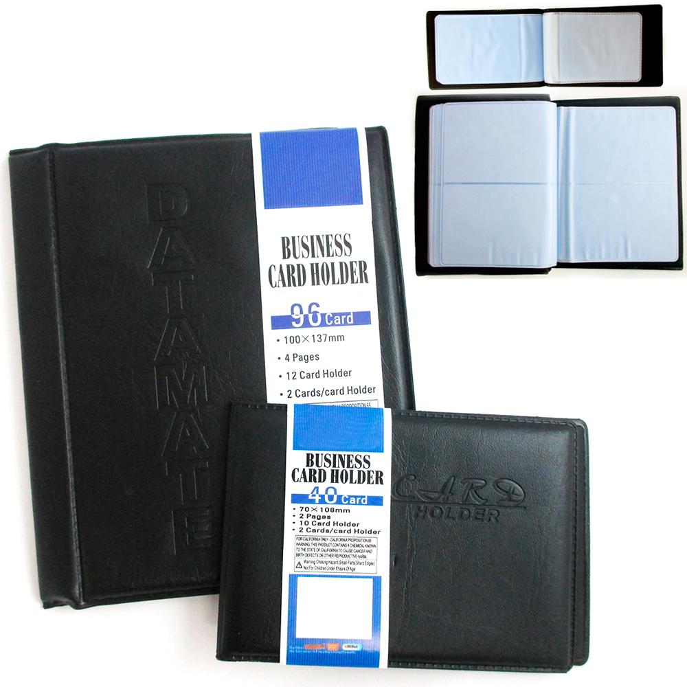 96 Business Card Holder Pocket Name Id Book Organizer Keeper ...