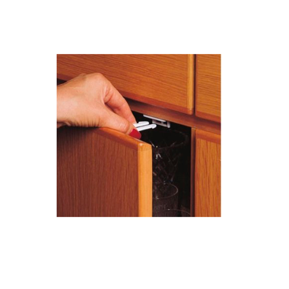 New 4 pk cabinet drawer latches child safety cabinet for Child safety lock for kitchen cabinets