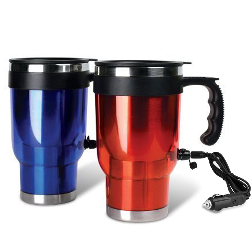 1 Travel Heated Mug Thermo Stainless Steel Portable Insulate
