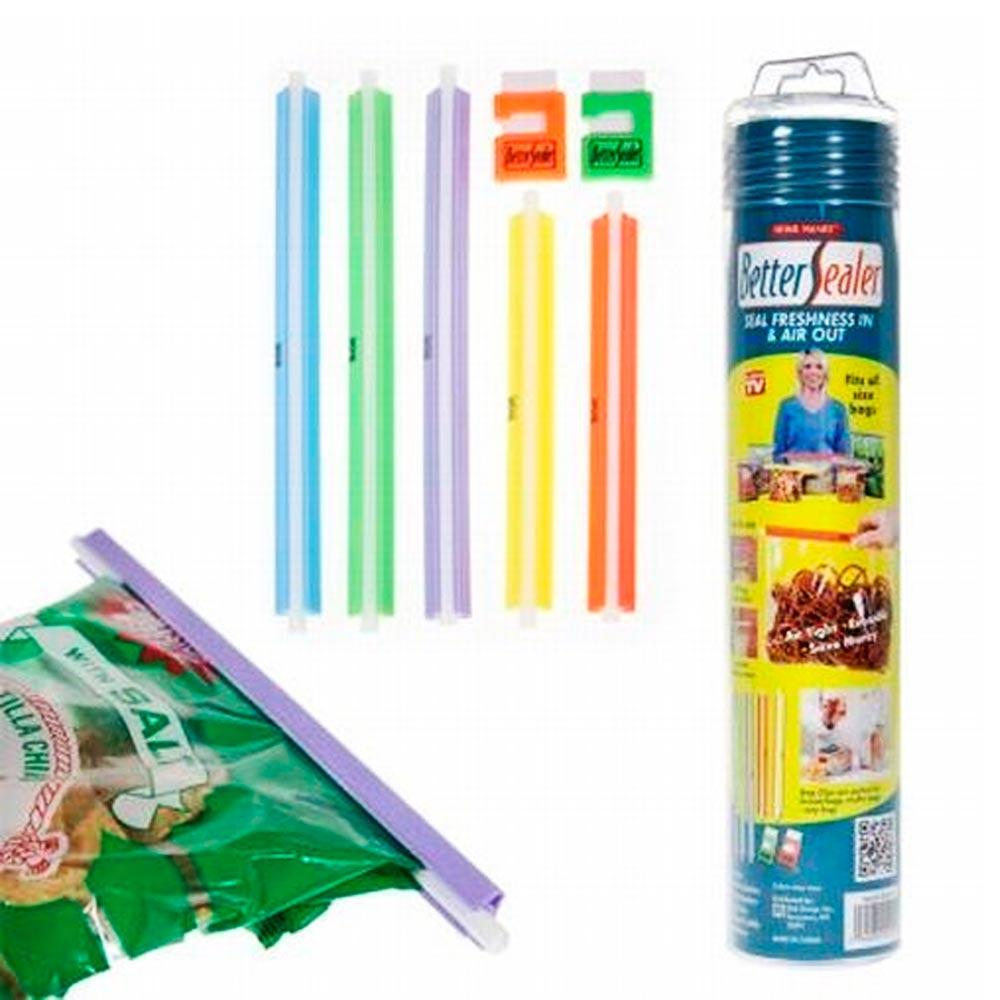 7 seal tight food snack plastic bags sealer grip slide