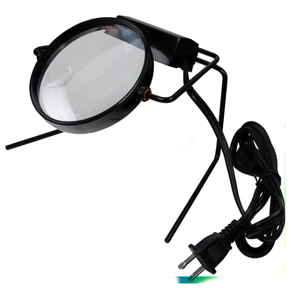 magnifier on stand lamp desk magnifying glass lighted table top new. Black Bedroom Furniture Sets. Home Design Ideas