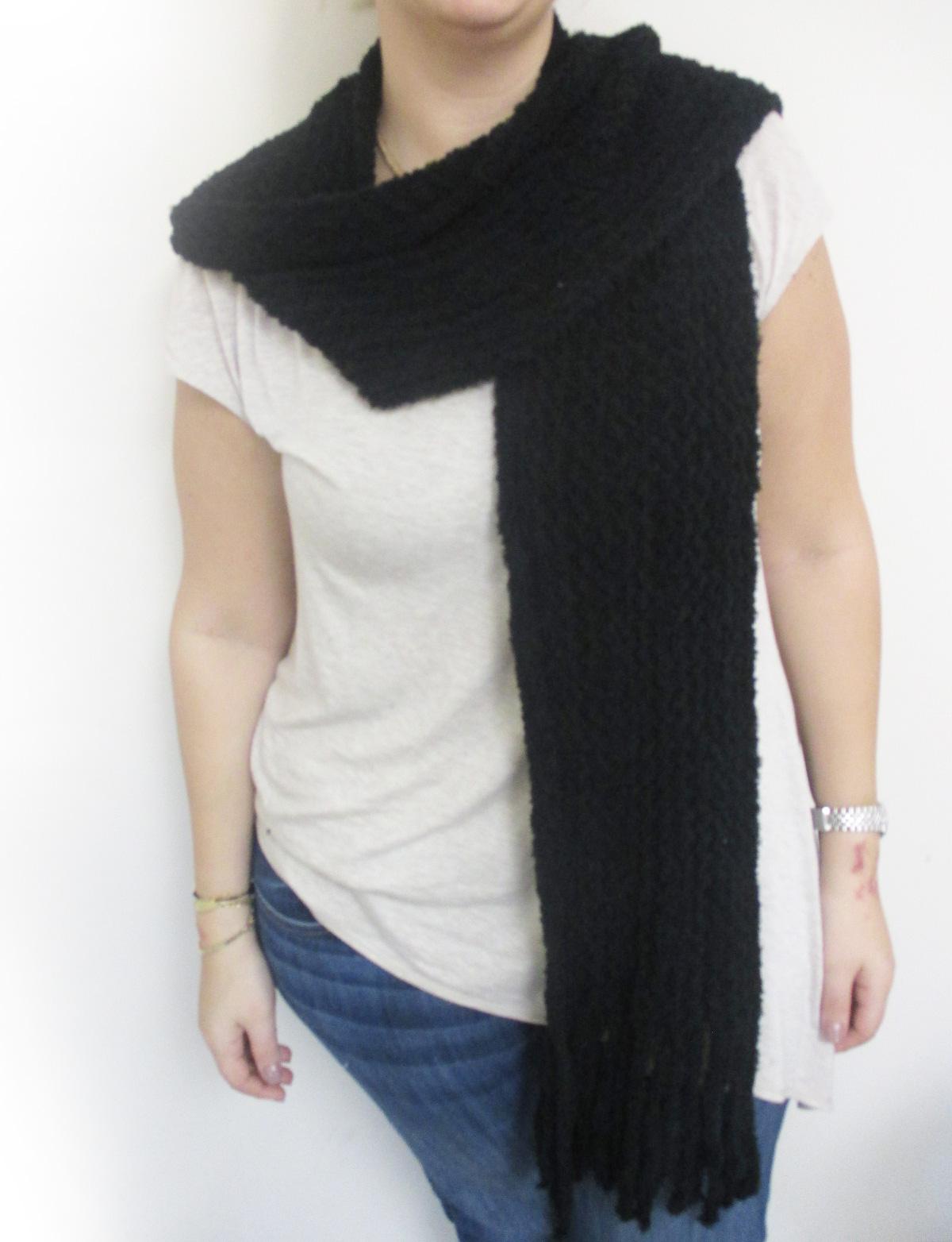 Fashion Unisex Knitted Scarf Warm Fringe Cold Winter ...