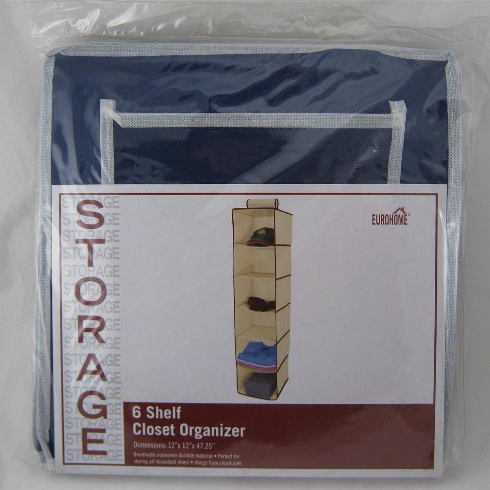 6 Shelf Hanging Wardrobe Sweater Storage Organizer Cloth