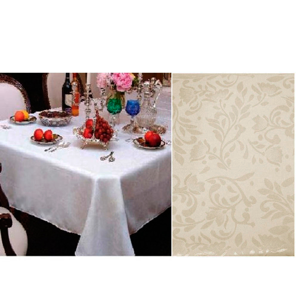 New damask table cloth 60 x 90 rectangle cover floral for Table cuisine 90 x 60