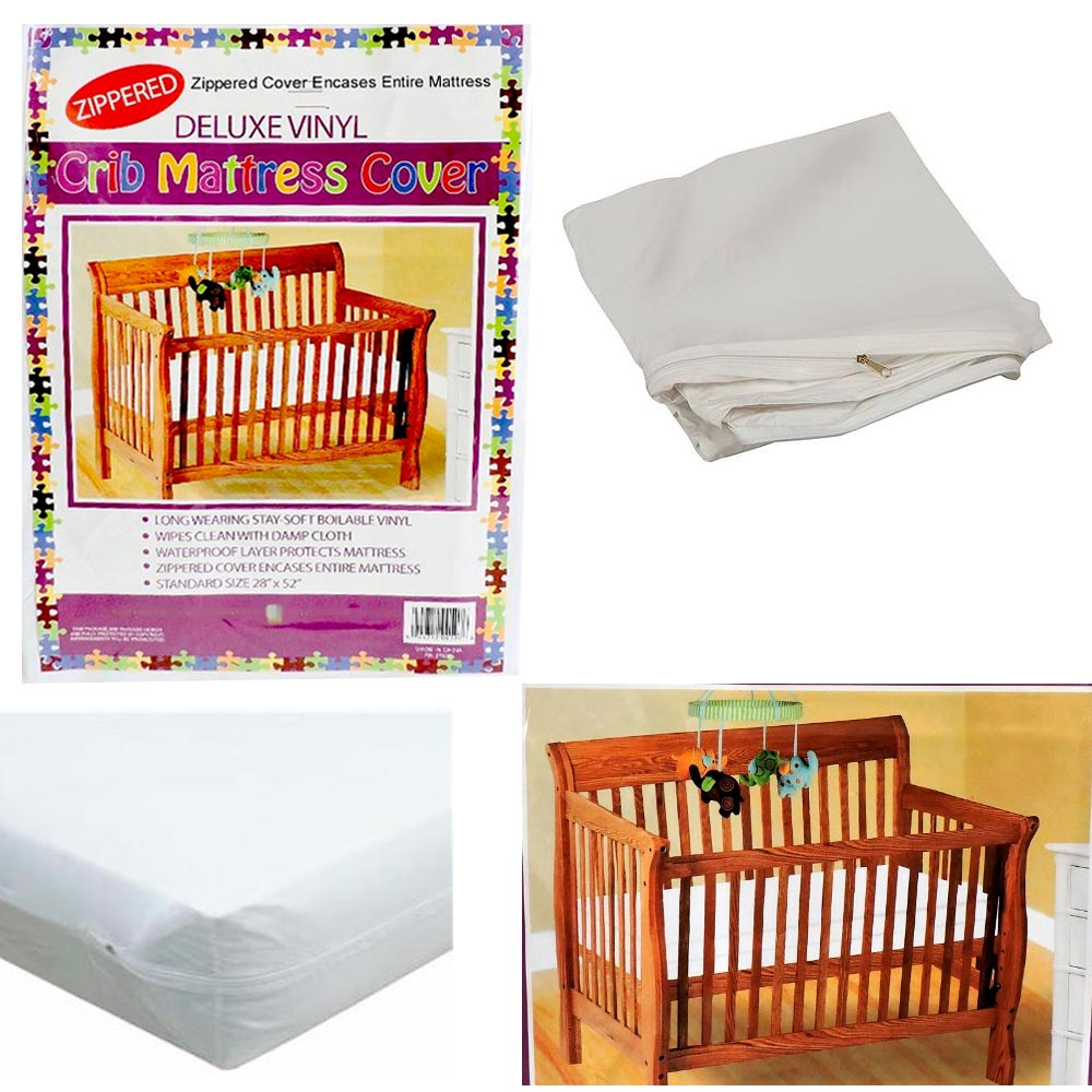 Baby bed ebay india - Image Is Loading Crib Size Zippered Mattress Cover Vinyl Toddler Bed