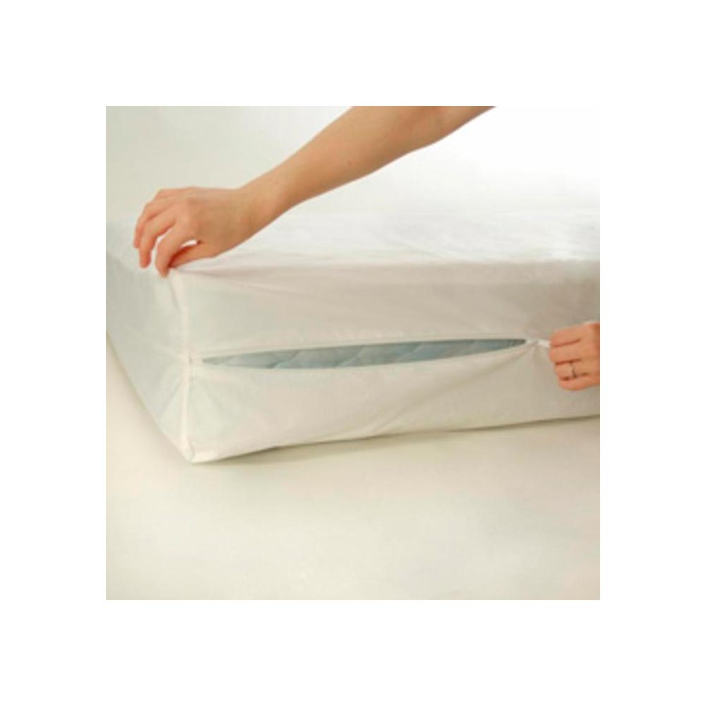Crib-Size-Zippered-Mattress-Cover-Vinyl-Toddler-Bed-