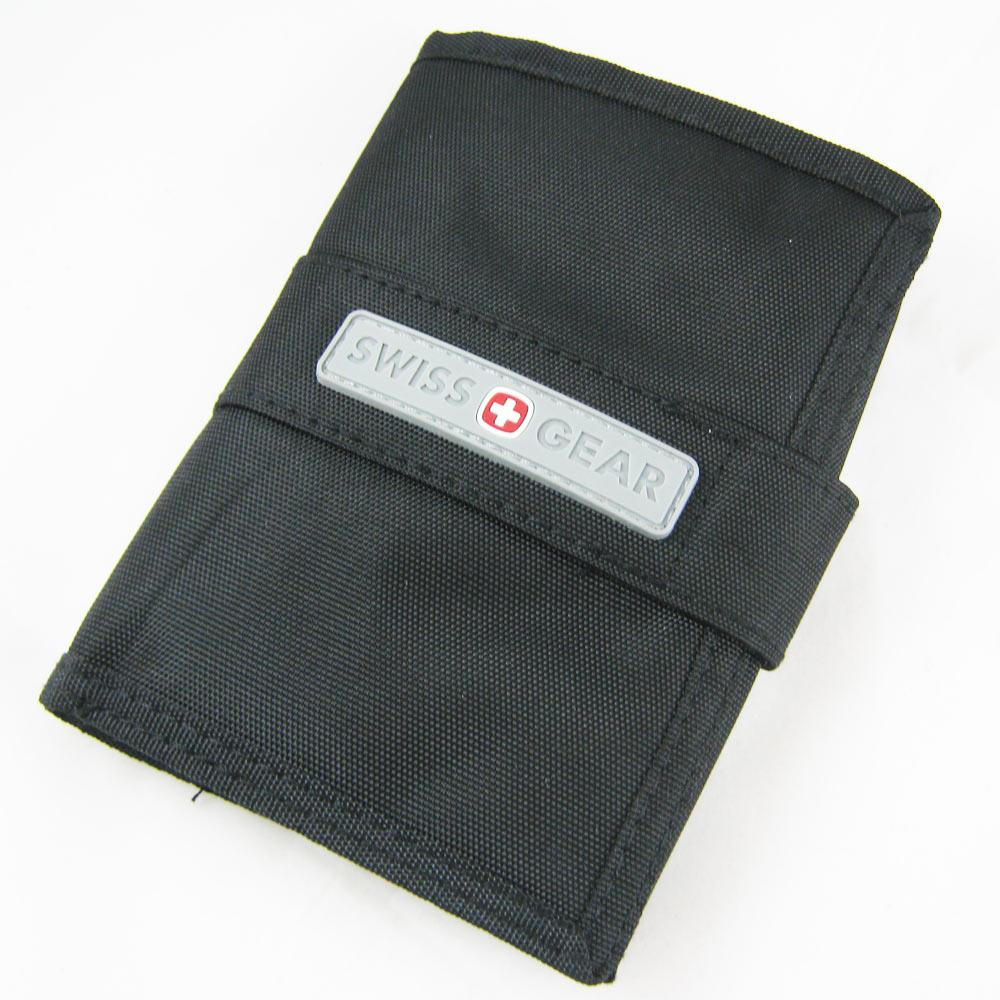 Swiss Rfid Airport Id Ticket Wallet Holder Tri Fold Black