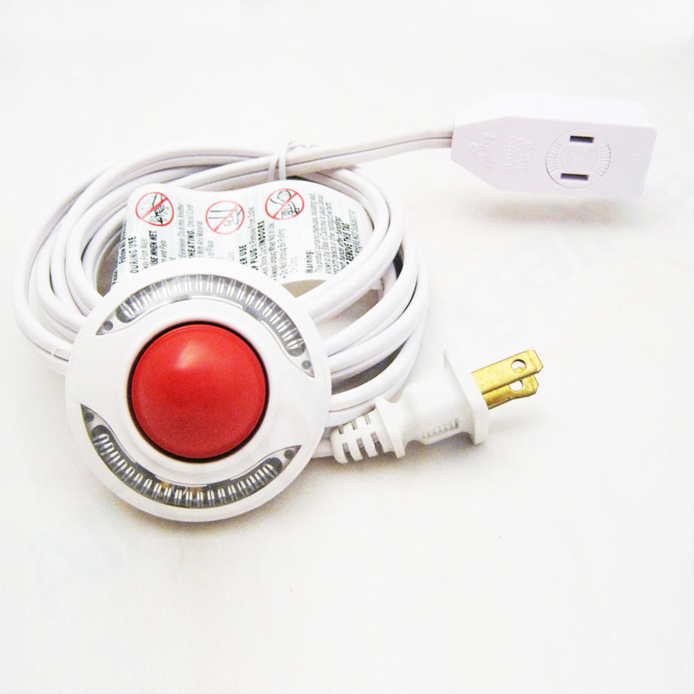 Vanity Light To Extension Cord : Light Extension Cord with Foot Switch 9 Ft Pedal Lamp 3 Outlet Cable Extension eBay