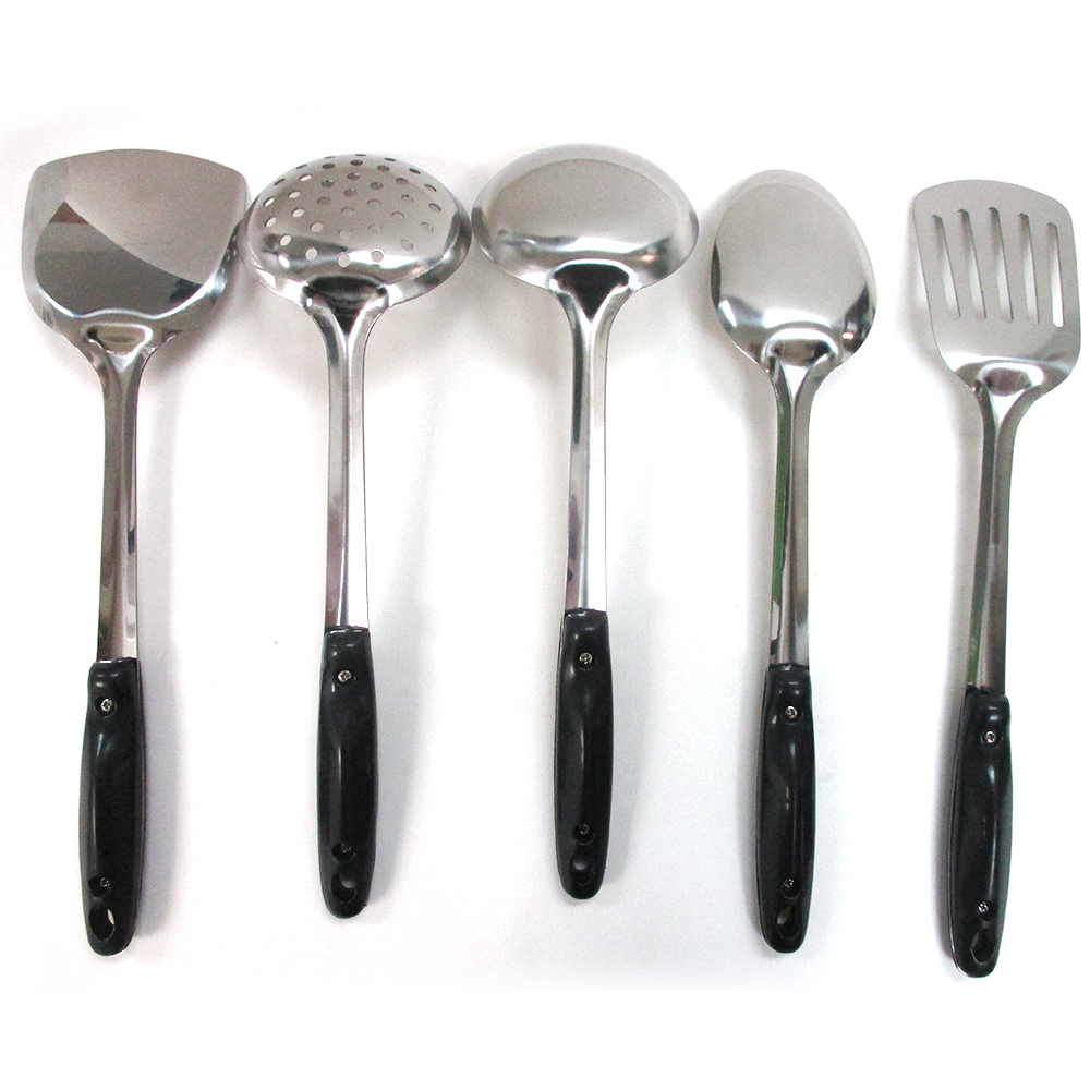 5 Stainless Steel Kitchen Cooking Utensil Set Serving Tools Server Spatula Spoon Ebay