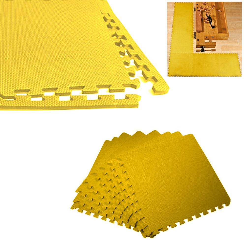 Exercise Mats Foam Gym Flooring Interlocking Tiles Yellow EBay