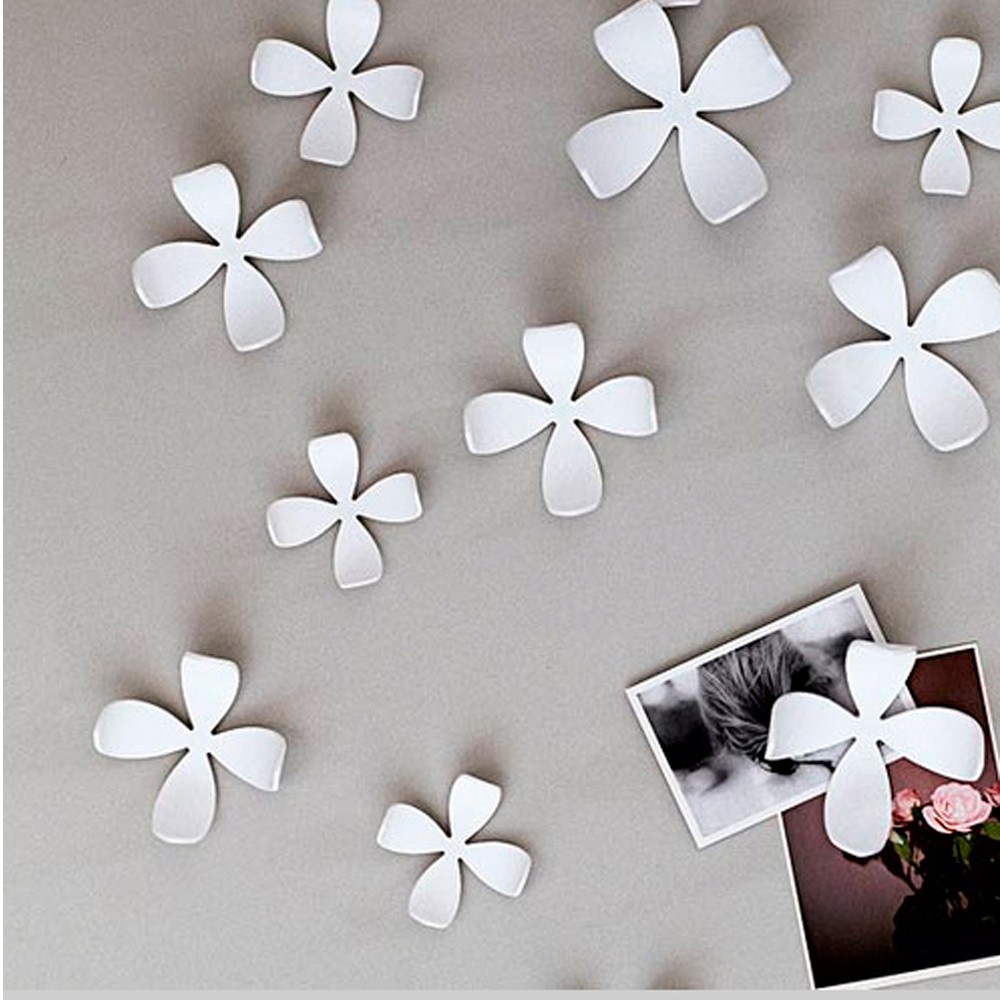 Wall Decals Umbra Umbra Wallflower Wall Decor 25 Flowers White Diy Nature Art Home Room