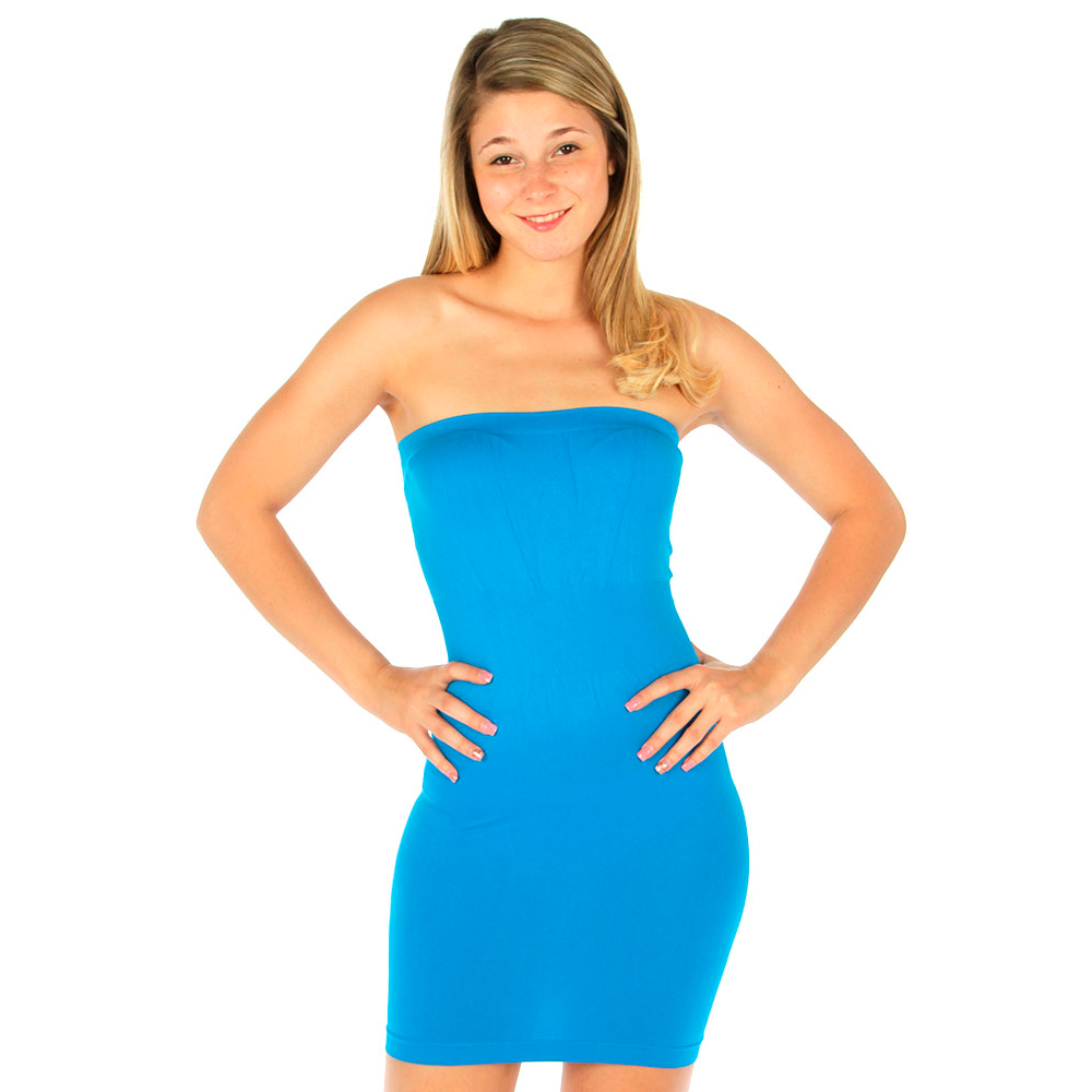 Tube Mini Dress Strapless Stretch Tight Fitted Club Body ...