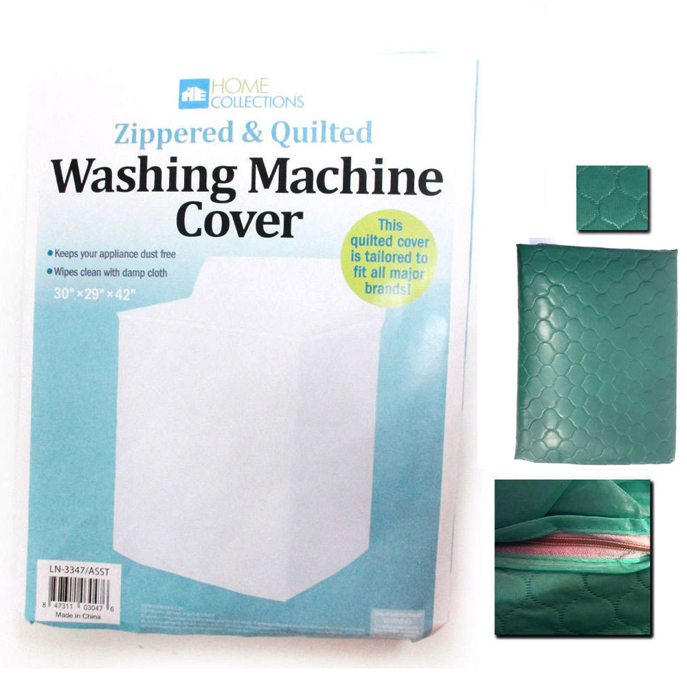 1-Vinyl-Quilted-Washing-Machine-Dryer-Cover-Top-Load-Dust-Zippered-Protection