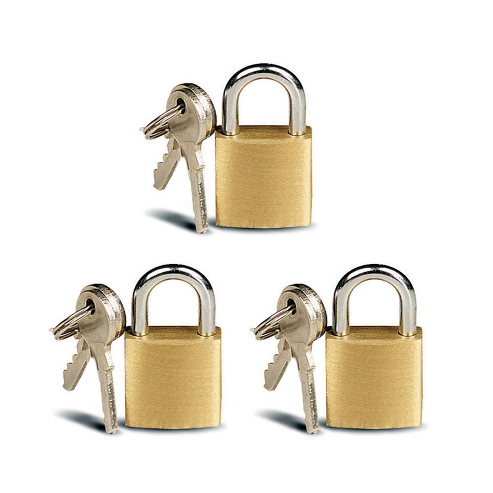 3 Small Metal Padlocks Mini Brass Tiny Box Locks Keyed ...