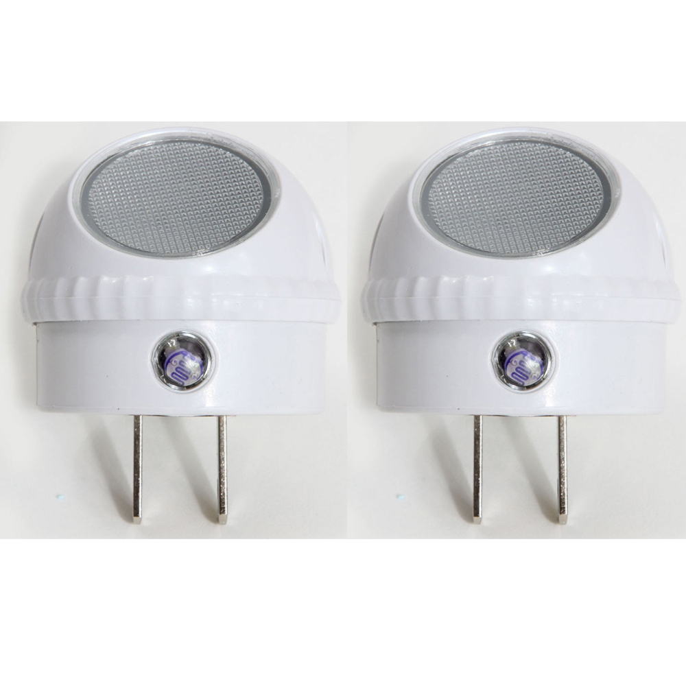 Led Night Light Plug In Wall Lamp Automatic Sensor Lite Round Swivel 2 Pack New eBay