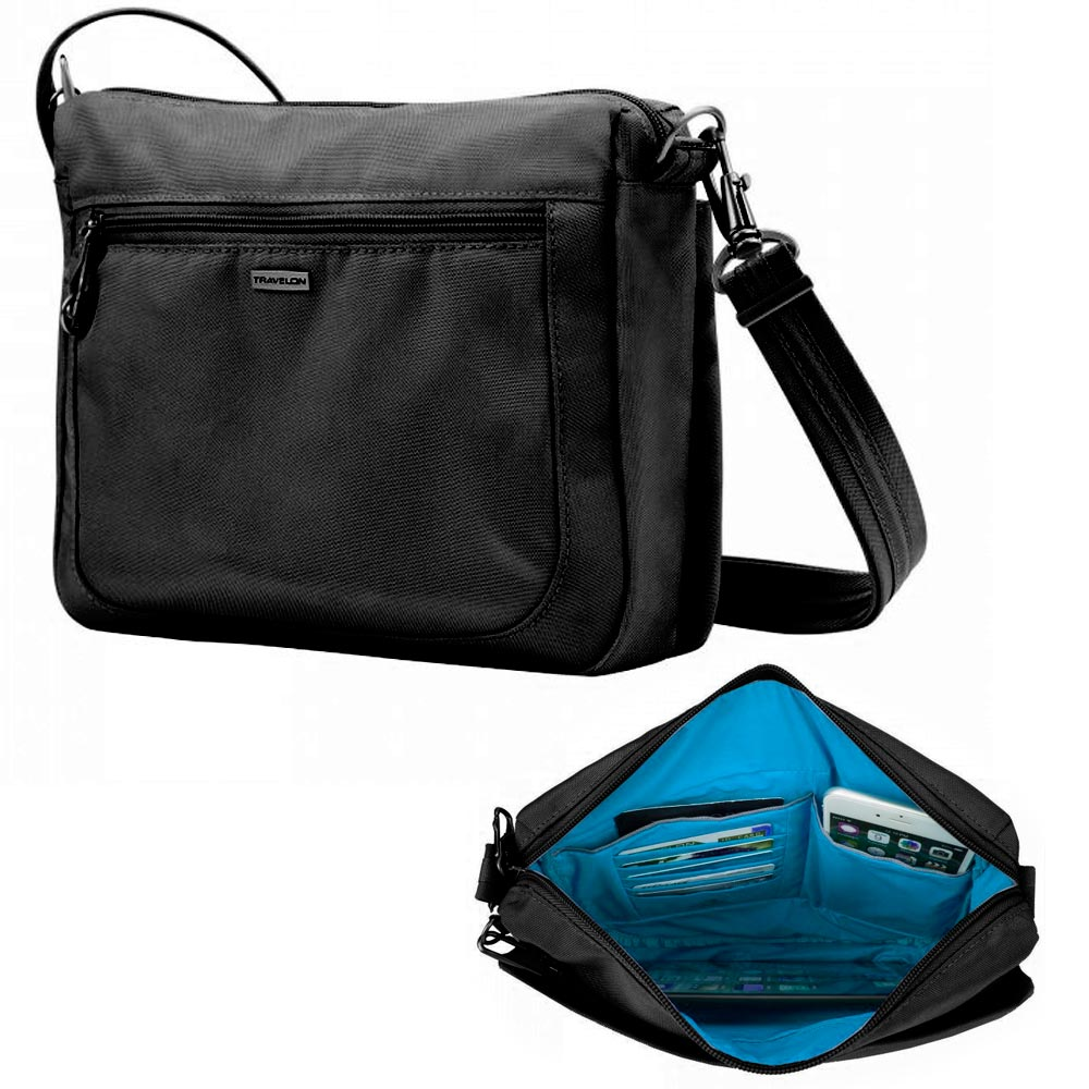 b7f2fff45be Travelon Anti-Theft Classic Small Crossbody Messenger Bag RFID Blocking  Purse. Click on the below images to view enlarge. AllTopBargain