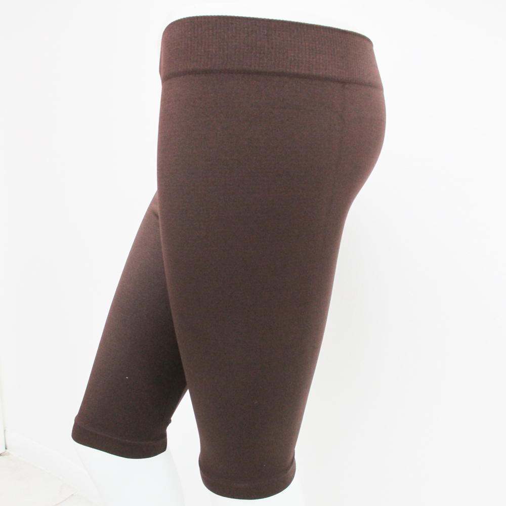 Seamless Basic Solid Shorts Tight Knee Length Spandex Stretch
