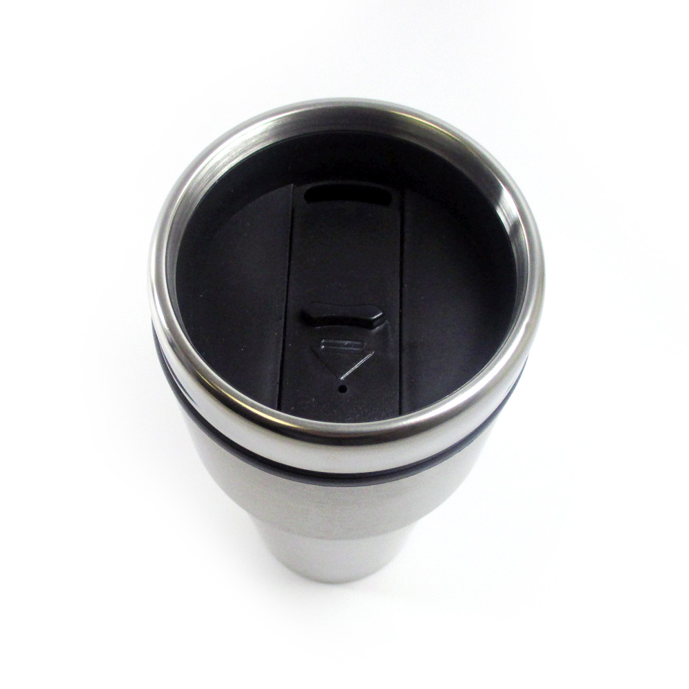 16oz cup insulated coffee travel mug stainless steel. Black Bedroom Furniture Sets. Home Design Ideas