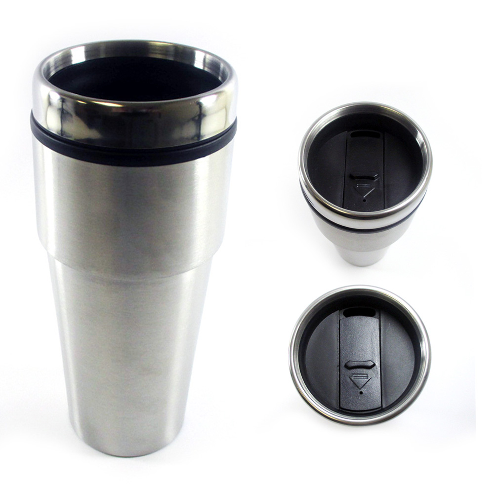 16oz cup insulated coffee travel mug stainless steel double wall thermos tumbler 7795735175439. Black Bedroom Furniture Sets. Home Design Ideas