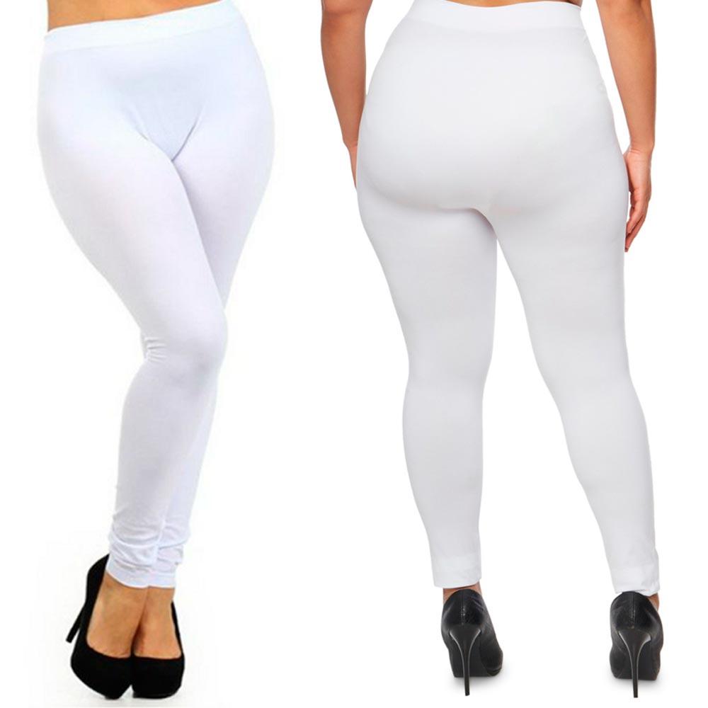 Plus Size Seamless Footless Stretch Legging Women Lady