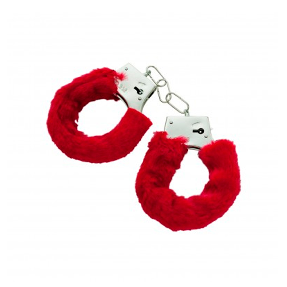 furry cuffs sexy love hand adult party handcuffs fuzzy red