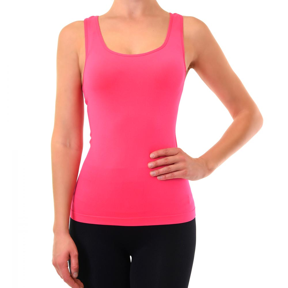 Womens-Racerback-Tank-Top-Cami-Sleeveless-Seamless-Stretch-Polyester-Basic-Solid thumbnail 24
