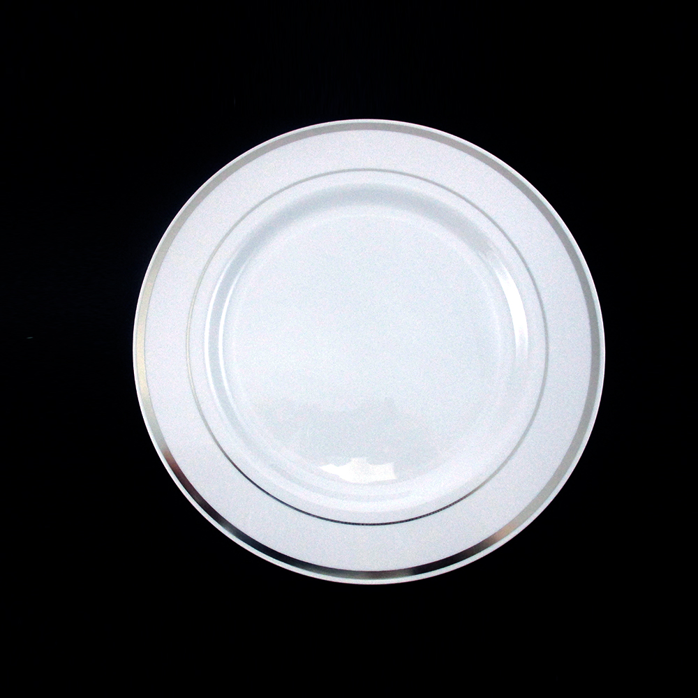 120 People Dinner Wedding Disposable Plastic Plates Party Silverware Silver R