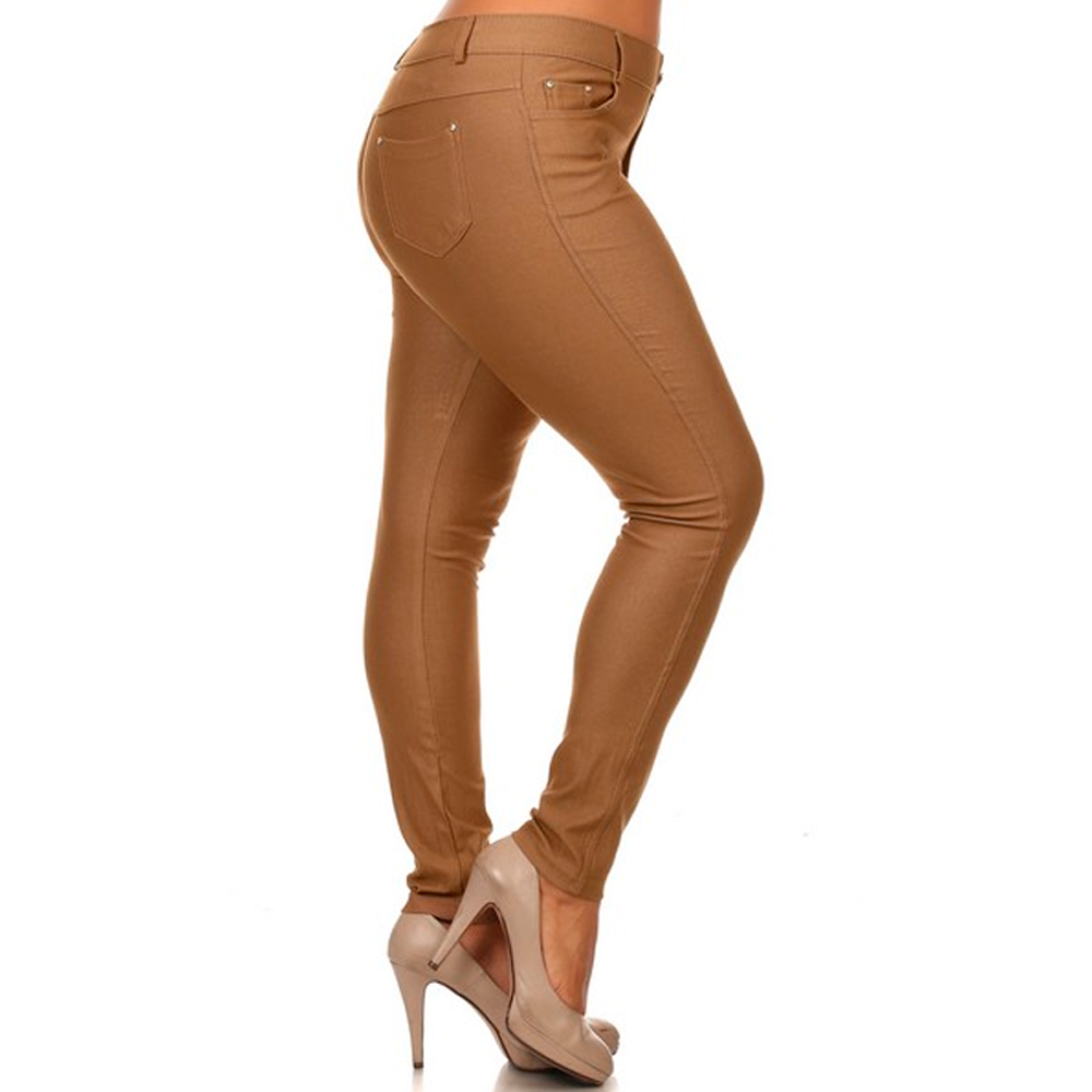 AllTopBargain$ - Womens Plus Size Jeans Look Skinny Slim Jeggings Stretch Pants XL