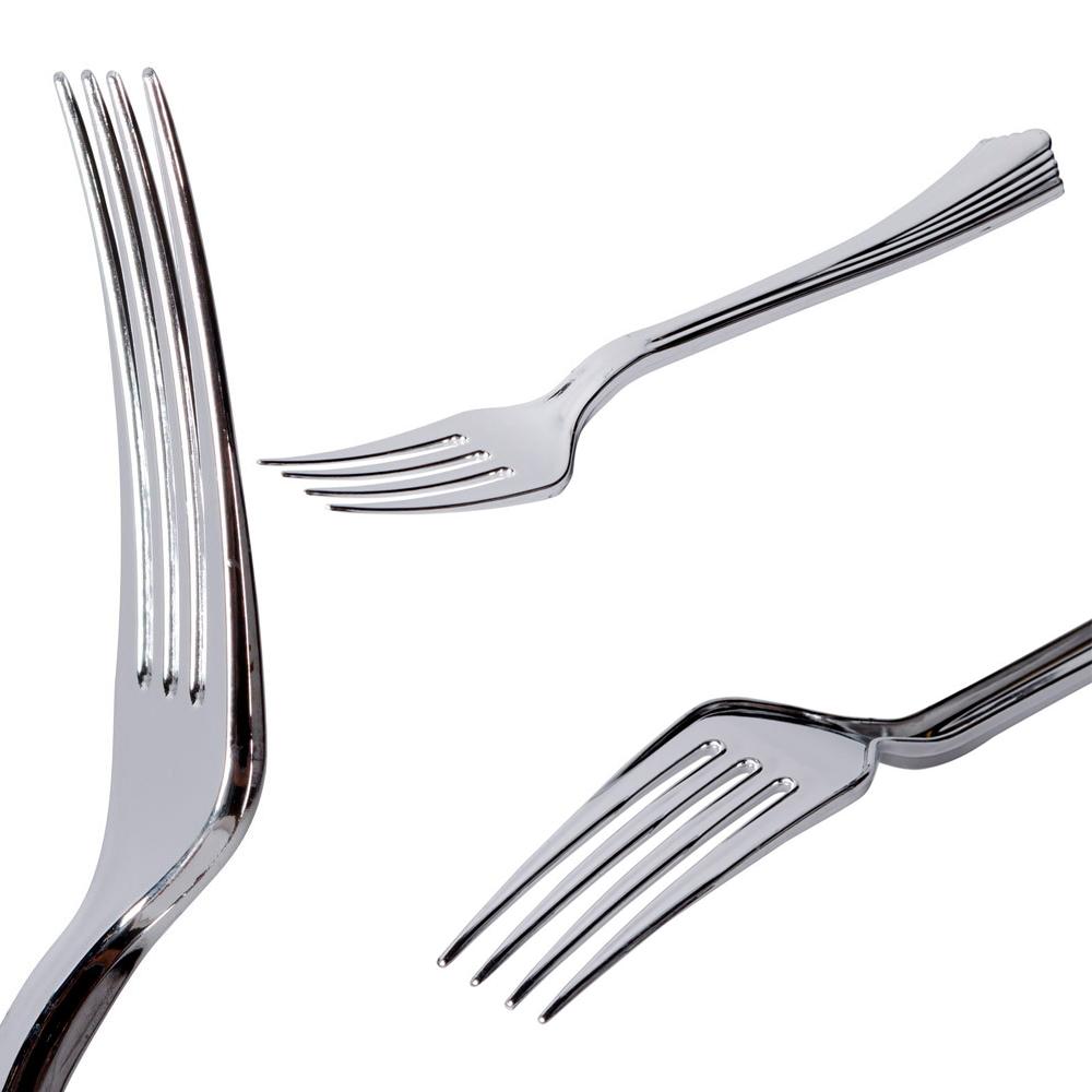 180 Heavy Duty Plastic Silverware Fork Knife Spoon Wedding
