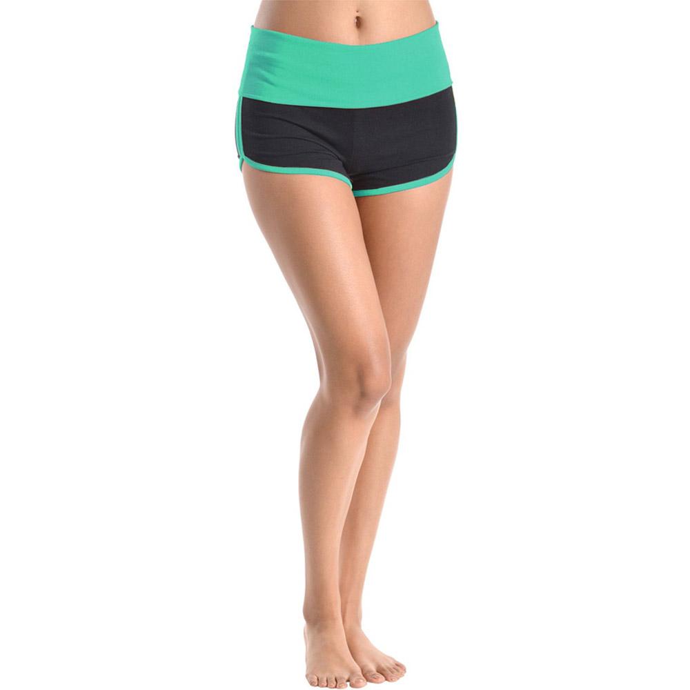 Women's Yoga Fold Over Waist Gym Run Sports Spandex Sexy