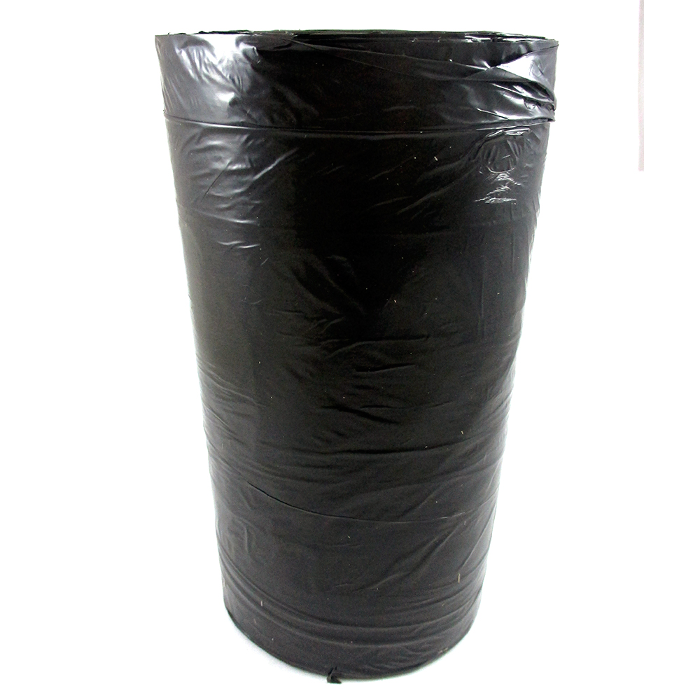 30 Gallon Trash Can Garbage Bags Flap Tie Outdoor Yard Kitchen Strong