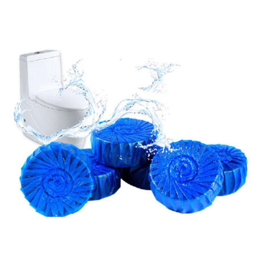 24 Automatic Bleach Toilet Bowl Cleaner Stain Remover Blue