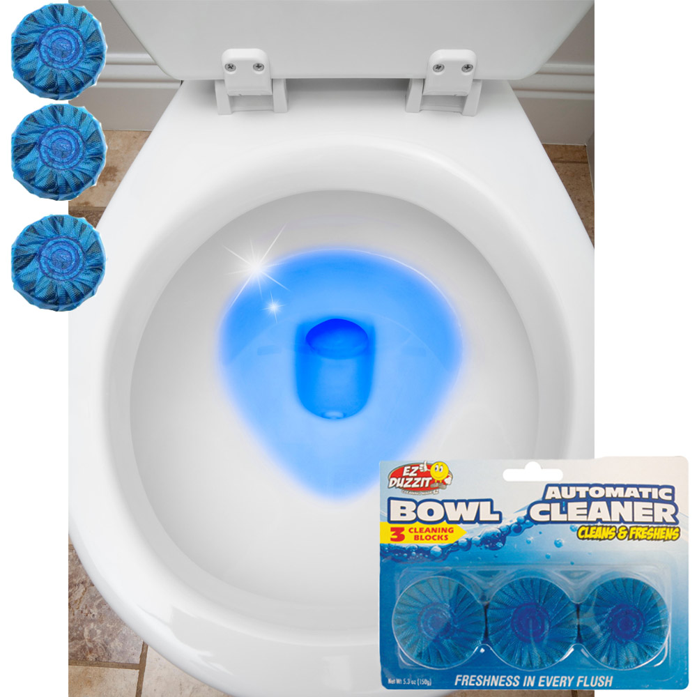6 Automatic Bleach Toilet Bowl Cleaner Stain Remover Blue
